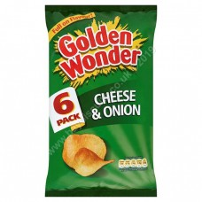 Golden Wonder 6pk Cheese and Onion
