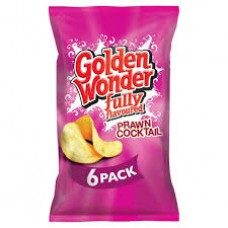 Golden Wonder Prawn Cocktail Crisps - 6 Pack