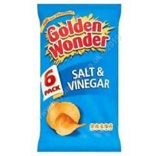 Golden Wonder 6pk Salt and Vinegar