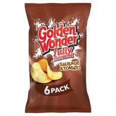 Golden Wonder 6pk Sausage and Tomato