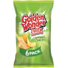 Golden Wonder Spring Onion Crisps - 6 Pack