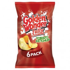 Golden Wonder 6pk Heinz Ketchup