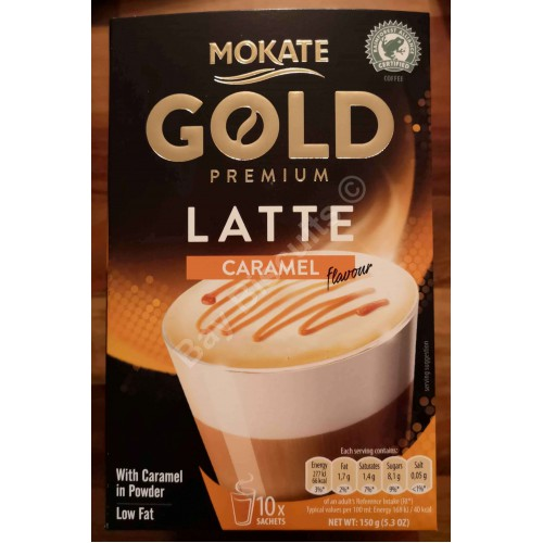 Mokate Gold Premium Latte Caramel Flavour Low Fat Coffee