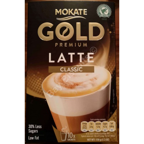 Mokate Gold Premium Latte Classic Low Fat Coffee Drink In