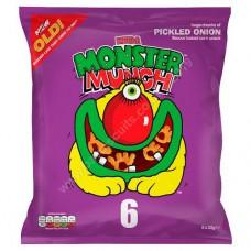Monster Munch 6pk Pickled Onion