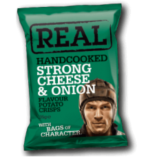 Real Crisps – Handcooked Crisps Chees/Onion Crisps