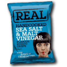 Real Crisps – Handcooked Crisps Salt and Malt Vinegar Crisp