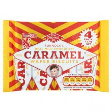 Tunnocks Caramel wafers (4pk)